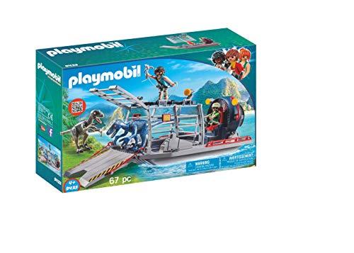 PLAYMOBIL Dinos Hidrodeslizador con Jaula, Flotante, a Partir de...