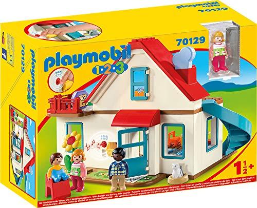 PLAYMOBIL 1.2.3 Casa, con Timbre Real y Efecto de Sonido, A...