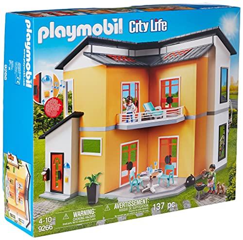 PLAYMOBIL City Life Casa Moderna, con Efectos de Luces y Sonido,...