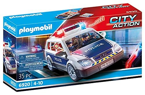 PLAYMOBIL- City Action Playset, Coche de Policía con Luces y...