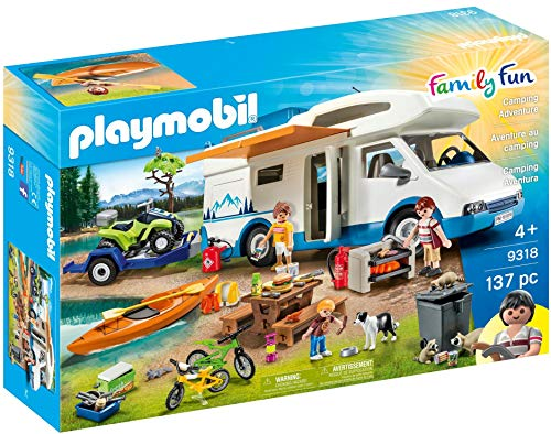 PLAYMOBIL 9318 - Family Fun Camping Aventura, a Partir de 4 Años