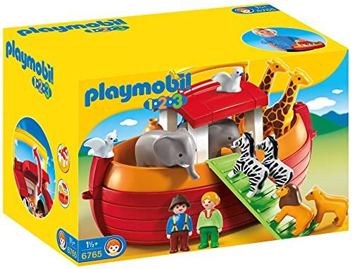PLAYMOBIL- 1.2.3 Playset Maletín, Arca de Noé, Multicolor, 18m+...