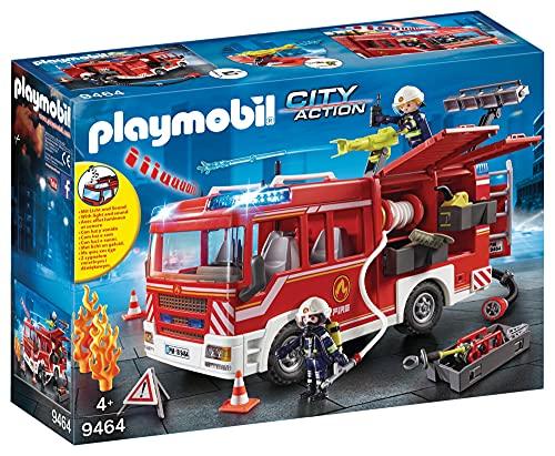 PLAYMOBIL City Action Camión de Bomberos con Luces y Sonido, a...