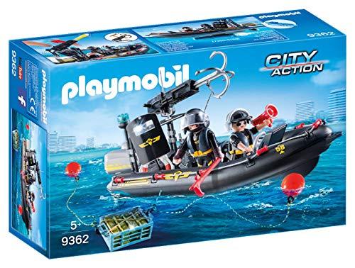 PLAYMOBIL City Action Lancha de las Fuerzas Especiales, Flotante,...