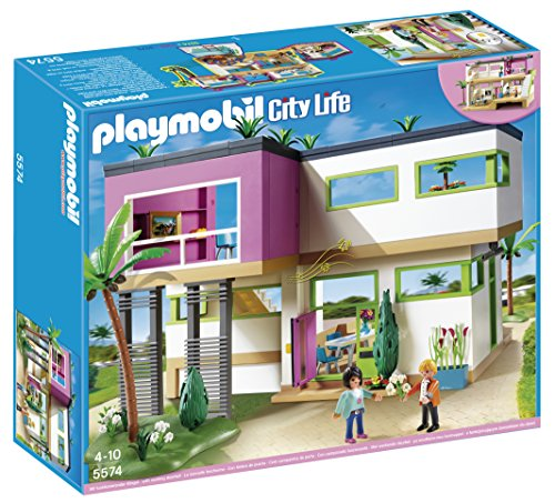 PLAYMOBIL Mansión Moderna de Lujo - Playset Completo (5574)