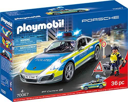 PLAYMOBIL City Action 70067 Porsche 911 Carrera 4S Policía a...