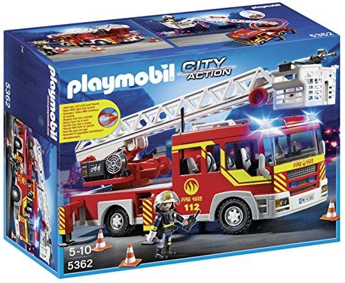 Playmobil Bomberos - Camión y escalera con luces y sonido,...