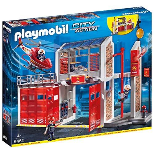 PLAYMOBIL City Action Parque de Bomberos con Efectos de Sonido, a...
