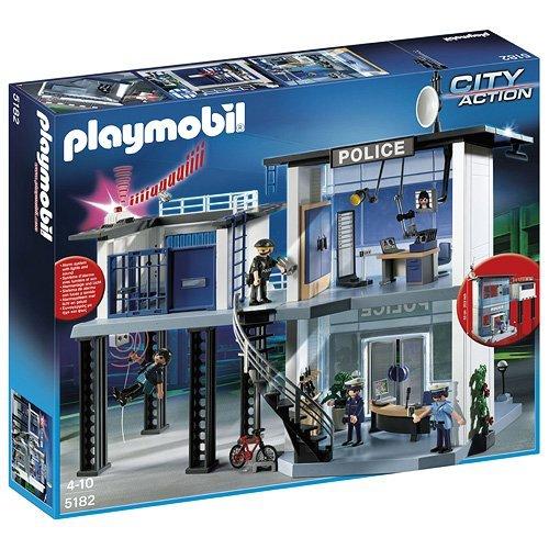 PLAYMOBIL - Comisaría de policía con Sistema de Alarma, Set de...