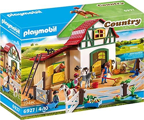 Playmobil-6927 Playmobil Figura de construcción Granja de Ponis...