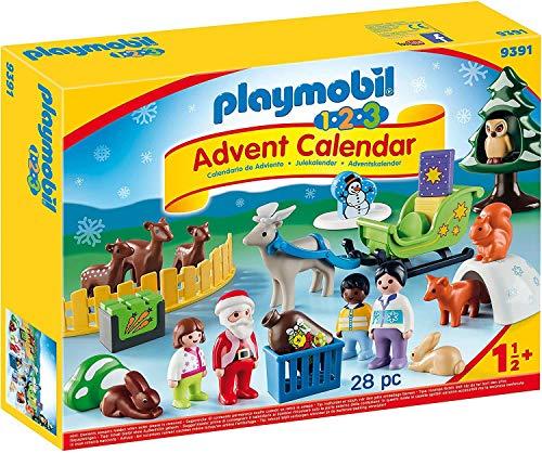 PLAYMOBIL Calendario de Adviento 9391 Navidad en el Bosque, A...