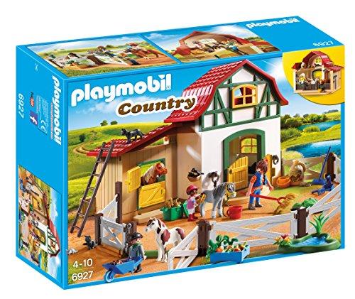 PLAYMOBIL Country Granja de Ponis con muchos Animales y Pajar, A...